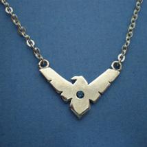 Handmade 925 Sterling Silver Night Wing Geek Necklace Choker - $42.00