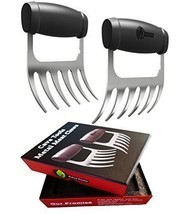 Meat Claws STAINLESS STEEL PULLED PORK SHREDDERS BBQ Forks for Shredding... - £23.34 GBP