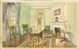 Martha Washington's Sitting Room, Mount Vernon, VA, 1934 unused Postcard  - $5.99