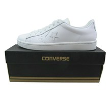 Converse Pro Leather Ox Low Triple White Shoes Size 10 Mens 155319C New - £46.90 GBP