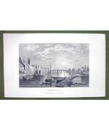 GERMANY Frankfurt am Main - 1840s Antique Print Engraving - $11.10