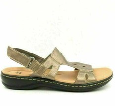 Clarks Women Lightweight Sandals Leisa Lakelyn Size US 5.5M Pewter Leather - $51.35