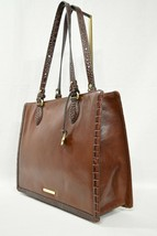 NWT Brahmin Medium Camille Leather Tote/Shoulder Bag in Cognac Quincy image 1
