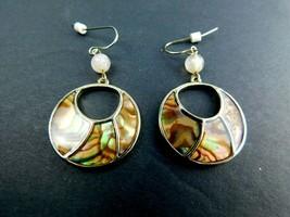 VTG Earrings -Multi Color Drop/Dangle Pierced Earrings BOHO Mid Century ... - $11.75