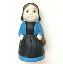 Vintage Chalkware Statue Figurine Coin Bank Peasant Woman Hand Painted U... - $32.99