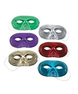 Metallic Half Masks Assorted color Fun Shiny Pack of 24 Costume Masks - $10.89