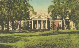 Monticello, East Front, near Charlottesville, Virginia, early 1900s Post... - $4.99