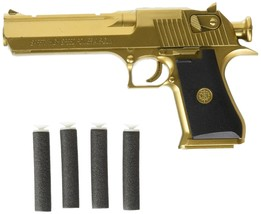 Backyard Blasters Golden Desert Eagle Toy Foam Dart Gun - $30.15