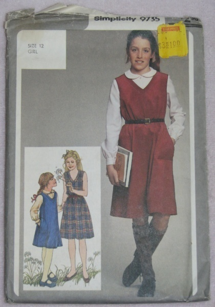 Simplicity 9735 Sewing Pattern Girls 12 Dress or Jumper  Simplicity New Look