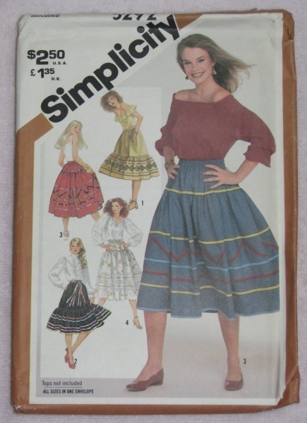Simplicity 5292 Sewing Pattern Misses Skirts Size A  Simplicity New Look