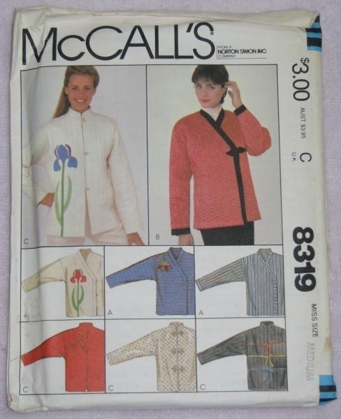 McCalls 8319 Sewing Pattern Misses Medium Jacket  McCall's