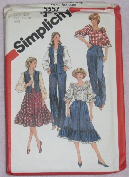 Simplicity 5357 Sewing Pattern Blouse Skirt Size 18-20  Simplicity New Look