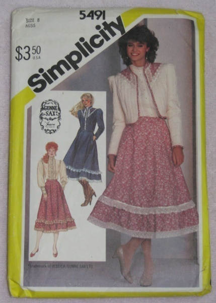 Simplicity 5491 Sewing Pattern Misses 8 Skirt Blouse  Simplicity New Look