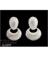 Vintage Rhinestone Earrings Marked Jarin Made in USA (#J1299) - $110.00