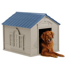 X-large Outdoor Dog House All Weather Kennel Deluxe Pet Durable Bed Shad... - $100.61