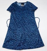 SWEET SODA GIRLS SIZE 7 DRESS BLUE LEOPARD CHEETAH ANIMAL PRINT - $9.25