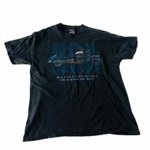 2001 Harley Davidson T-shirt Large Black True Blue Fat Boy Gettysburg PA - $18.53
