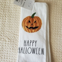 Rae Dunn Kitchen Towels, set of 2, Happy Halloween Trick or Treat image 2