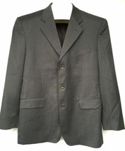 Ermenegildo Zegna Traveler Sport Coat Jacket Blazer Wool Silk Gray Pinst... - $64.34