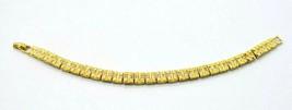 "Blanca Clear Rhinestone Panel Tennis Bracelet Gold Tone Vintage 7.25"" - $19.79"