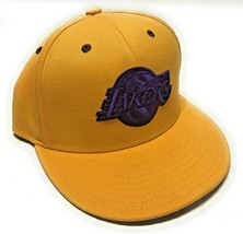 Adidas Originals Los Angeles Lakers NBA Hat Purple Logo Fitted Mens Size S/M - $15.83