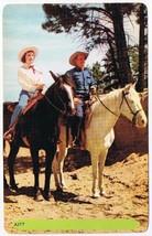 Colorado Postcard Couple On Horses Western Dress Noble Rembrandt A177 - $2.84