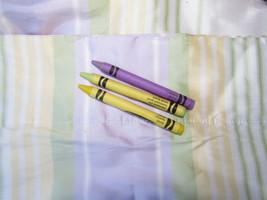 2 Curtain Panels 100% Silk Pottery Barn Kids Teens Purple Yellow Green S... - $47.49