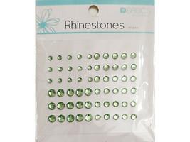 Kaisercraft Basics Light Green Rhinestones, 60 Pieces, 3 Sizes