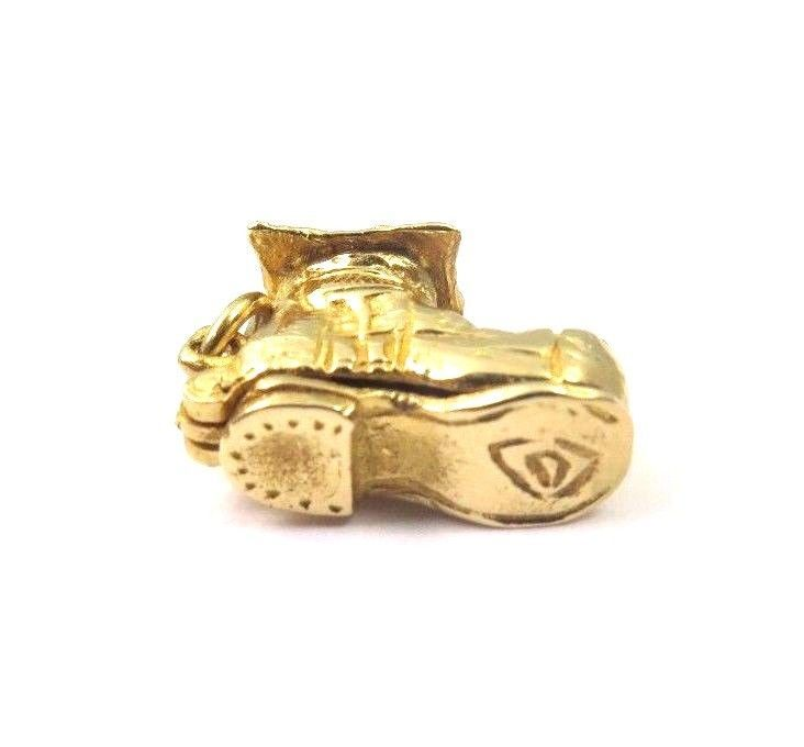 14k Yellow Gold Vintage Shoe House Charm That Opens