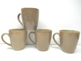 "4 Sango Roma Caramel 4815 Beige Light Brown Stoneware 4"" Tall Coffee Tea... - $29.67"