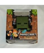 Nuevo Minecraft Mega Figura Zombie 10.2cm Altura Alex Creeper Steve Verde - $12.83
