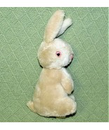 "Vintage GUND BUNNY RABBIT 9"" Plush Stuffed Animal Beige White PINK EYES ... - $29.70"
