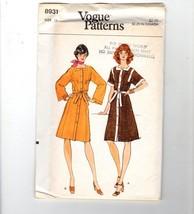 Vogue Patterns 8931 70s Boho Dress Pants Size 12 VTG Uncut - $12.38