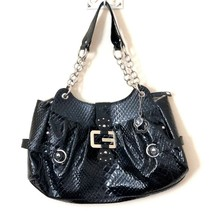 90s GUESS Extra Large Faux Reptile Patent Leather Handbag Huge Bag = - $94.74