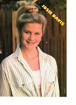 Josie Davis Jenny Lewis teen magazine pinup clipping open shirt by a fence Bop