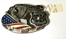 Law Enforcement Police Sheriff Belt Buckle THE POLICE OFFICER AMERICAN HERO Flag