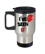 Scary Clown I've Seen It Creepy Red Balloon 14 oz. Stainless Steel Travel Mug - $19.99