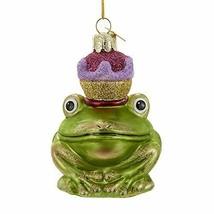 """KURT S. ADLER NOBLE GEMS 3.5"""" FROG PRINCE GLASS CHRISTMAS ORNAMENT - $14.88"""
