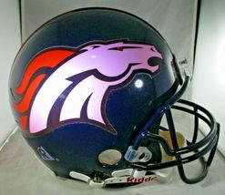 TERRELL DAVIS / AUTOGRAPHED DENVER BRONCOS NFL PRO LINE FOOTBALL HELMET / COA image 2