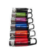 Coca-Cola Freestyle Flashlight Lanterns Set of 6 Built-In Carabiner Clip - $29.50