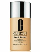 Clinique Even Better Broad Spectrum SPF15 Foundation Makeup 06 CN58 Honey - $23.36