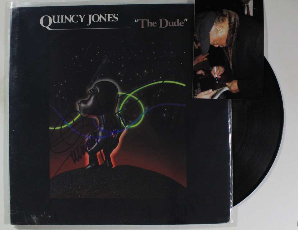Primary image for Quincy Jones Signed Autographed Record Album w/ Proof Photo