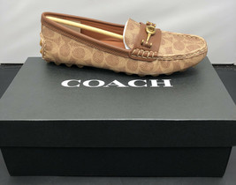 COACH G2673 Crosby Driver Moccasins Tan Colorway Womens 9 New Fast Shipping - $97.02