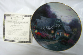 "1993 Knowles Thomas Kinkaid ""Weathervane Cottage"" Porcelain Collector Plate - $9.99"