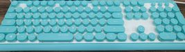 iRiver Korean English Keyboard USB Wired Membrane Bubble Keyboard for PC (Blue) image 3