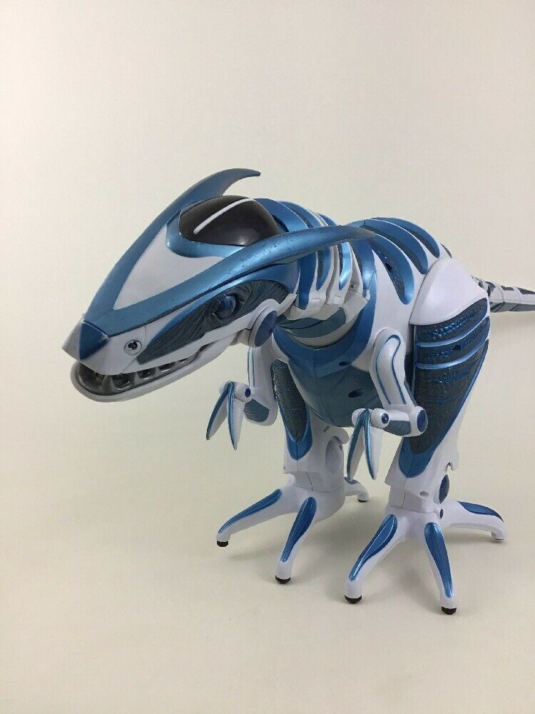Roboraptor Blue Remote Control RC Interactive Dinosaur Robot Toy WowWee Tested