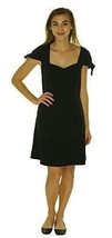 L kensie ruffle sleeve short sleeve dress fit and flare black 1112 - $25.39