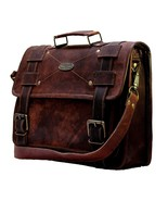 Handcrafted Brown Artisan Genuine Leather Messenger Saddle Bag For Men A... - $61.51