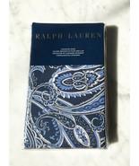 """Ralph Lauren Costa Azzurra Blue Pillow Sham - 20"""" x 28"""" Standard 100% Co... - $61.70"""