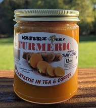 100% Raw Honey With Turmeric 12oz Usa Honey - $17.95